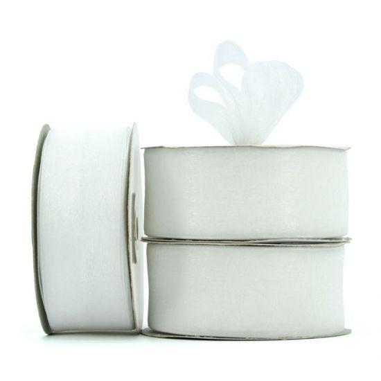 Organza Ribbon Roll - White