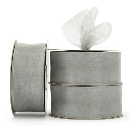 Organza Ribbon Roll - Silver