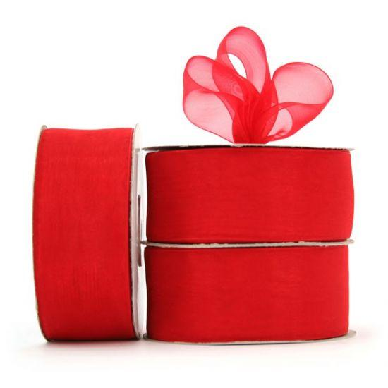 Organza Ribbon Roll - Red