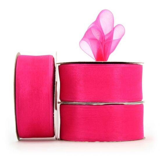 Organza Ribbon Roll - Fuschia