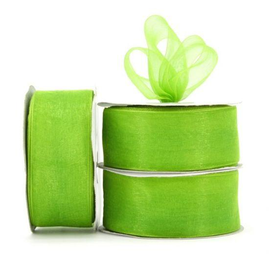 Organza Ribbon Roll - Avocado