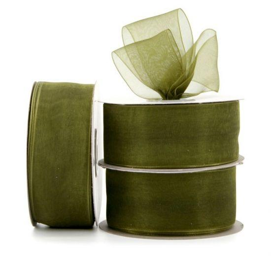Organza Ribbon Roll - Moss