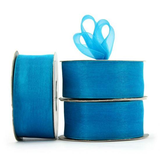 Organza Ribbon Roll - Teal