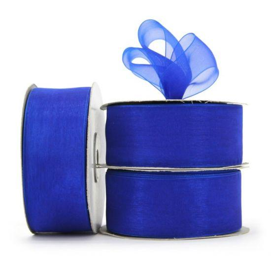 Organza Ribbon Roll - Royal Blue