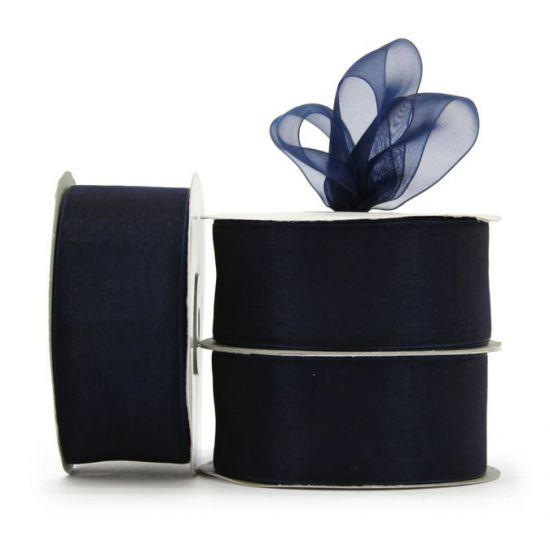 Organza Ribbon Roll - Navy Blue