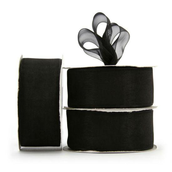 Organza Ribbon Roll - Black