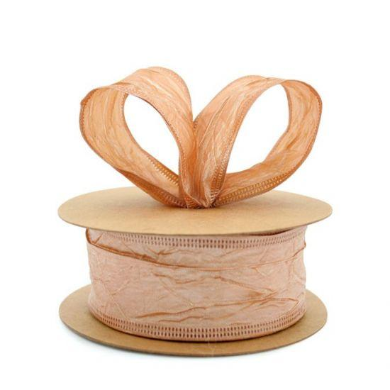 Taffeta Ribbon - Wire Edge 38mm x 20m - Caramel
