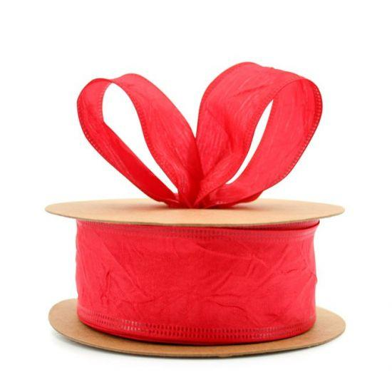 Taffeta Ribbon - Wire Edge 38mm x 20m - Red
