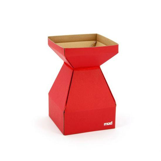 MOD Square Vase - Small 14sq x 22cm - 10pk - Red